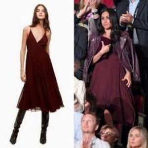 Aritzia Wilfred Beaune Pleated Slip Dress